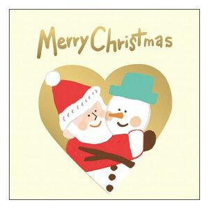 グリーティングライフ クリスマスサンタハグミニカード スノーマン かわいい メッセージカード プレゼント