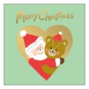 グリーティングライフ クリスマスサンタハグミニカード テディベア かわいい メッセージカード プレゼント