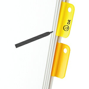 油性ペンで書いて消しゴムで消せるクリップ デミクリップ5P