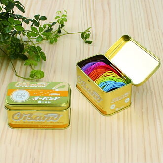 It is canned entering eight colors of colorful rubber bands オーバンド gold in the オーバンド pretty good accessory case which entered the can feeling nostalgic for slightly