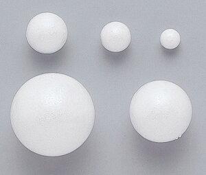 【お取寄】発泡スチロール球 60mm (10個入)【メール便不可】