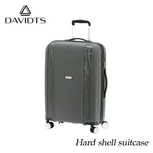 スーツケース おしゃれ かわいい mサイズ 57l グレー キャリーケース キャリーバッグ ビジネス 出張 旅行 ハード キャビンケース メンズ レディース 人気 疲れにくい ブランド DAVIDTS 送料無料
