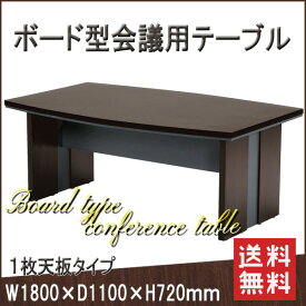 【お取寄】MTB ミーティングテーブル《1枚天板タイプ》木製 会議机 テーブル センターテーブル ダークブラウン【送料無料】《イノウエ》【要組立】 【SUMMER_D1808】 【メール便不可】
