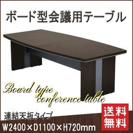 【お取寄】MTB ミーティングテーブル《連結天板タイプ》木製 会議机 テーブル センターテーブル ダークブラウン【送料無料】《イノウエ》【要組立】【メール便不可】