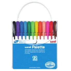 uni Palette食用染料サインペン12色セット【PW-503 PLT】【三菱】【メール便可】[M便 1/1]