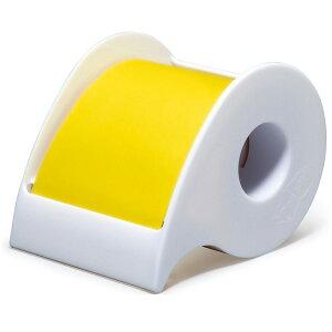 ポストイット 強粘着ロール ビビットイエロー ノート ディスペンサー付き 50mm 付箋紙 付箋 3M 【メール便不可】