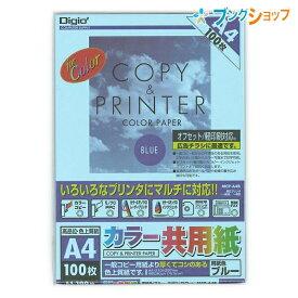 ナカバヤシ コピー用紙 カラー共用紙/A4/100枚/ブルー オフセット MCP-A4-B 軽印刷対応 マルチに対応 平滑性ある用紙 どちらの面も印字可能 ボールペン 鉛筆 書き込み 捺印可能