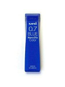 三菱鉛筆 シャープペン ナノダイヤカラー芯 青 U07202NDC.33 替え芯 カエシン シャープ替芯 くっきりなめらかな書き味 濃い描線 濃くハッキリと書ける