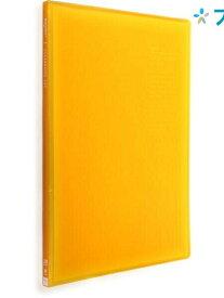リヒト クリアブック リクエストクリアブック20P G3101オレンジ リヒトラブ LIHITLAB 書類 保管 収容 収納 分類 保存 整理 目にも優しいクリアポケット 中台紙なし ポケット固定式 背幅スリム スケルトンタイプクリヤーブック