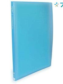 リヒト クリアブック 透明クリアブックB5S G3107ブルー リヒトラブ LIHITLAB 書類 保管 収容 収納 分類 保存 整理 綺麗な透明カラー表紙 カラフルなスケルトンタイプ トップインタイプ 目にやさしいエンボス加工 中台紙なし 背幅がスリム