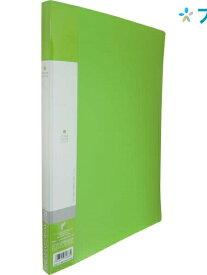 リヒト クリアブック リクエストクリアブックA4 20P G3201黄緑 リヒトラブ LIHITLAB 書類 保管 収容 収納 分類 保存 整理 薄型クリアーファイル中台紙付 ポケット固定式 交換式背見出しタイプ 書類の出し入れしやすい 分類整理に便利