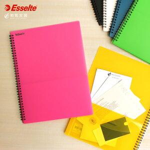 ファイル エセルテ ESSELTE 8ポケットA4 クリア ファイル デザイン おしゃれ