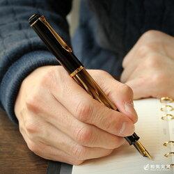 万年筆【名入れ無料】ペリカンPelikanクラシックM200マーブルブラウン万年筆ピストン吸入式