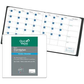 【手帳 2020年】クオバディス QUOVADIS 月間 ブロック 16×16cm正方形 カレプラン リフィル(レフィル)
