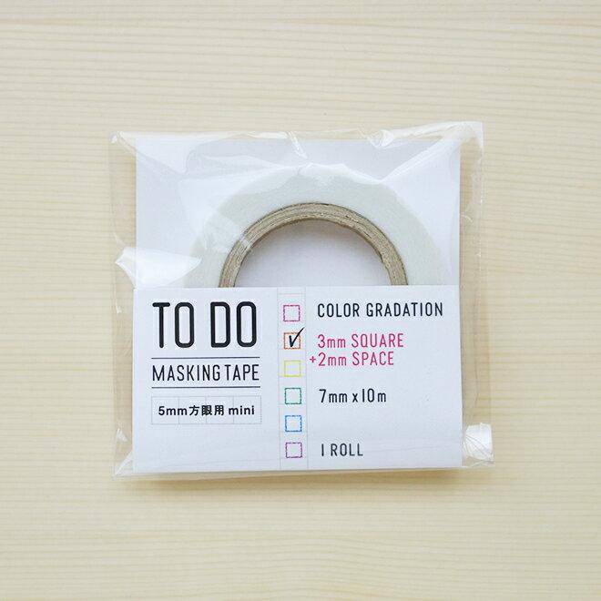 【マステ】【イッコニコ】 icco nico TODO カラーグラデーション マスキングテープ 5mm方眼対応 mini