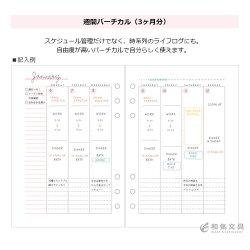 マークスMARKSシステム手帳バインダートライアルリフィル入り柄A5