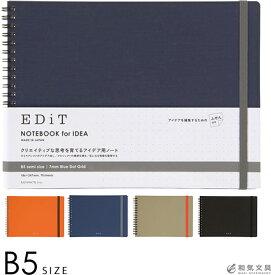 ノートブック 横型 マークス MARKS エディット EDiT アイデア用ノートふせん付き B5サイズ