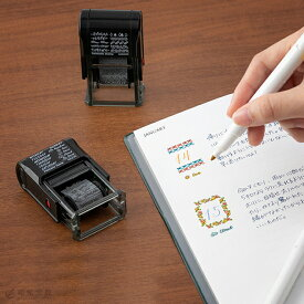 手帳カスタマイズ かわいい ミドリ midori スタンプ 回転印