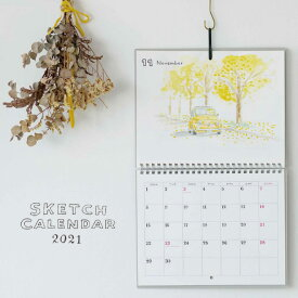 【2021年 カレンダー】ラボクリップ LABCLIP スケッチカレンダー SKETCH CALENDAR