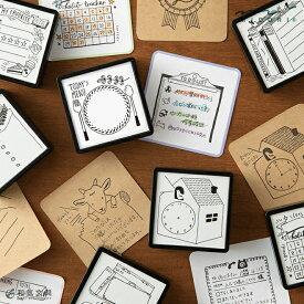 かわいい 手帳作り ノート はんこ ミドリ midori スタンプ 浸透印