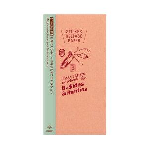 【限定】トラベラーズノート TRAVELER'S Notebook B-side & Rarities リフィル シール台紙