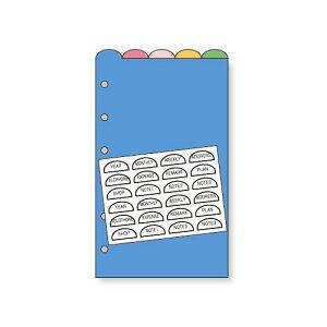 レイメイ藤井 キーワード リフィル アクセサリー フリーインデックス・カラー ポケットサイズ 5枚入 WPR264 / 5セット
