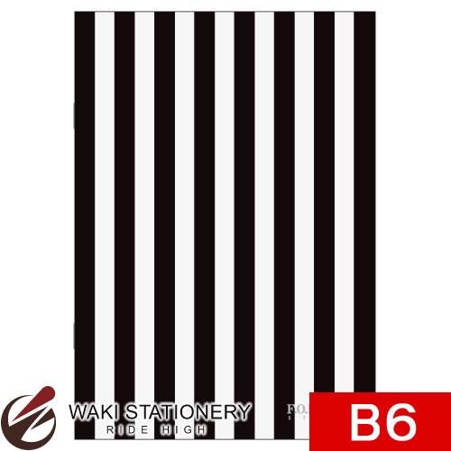 キョクトウ F.O.B COOP 縞柄ノート B6 7mm罫 黒×白タテ縞 X284 / 5セット