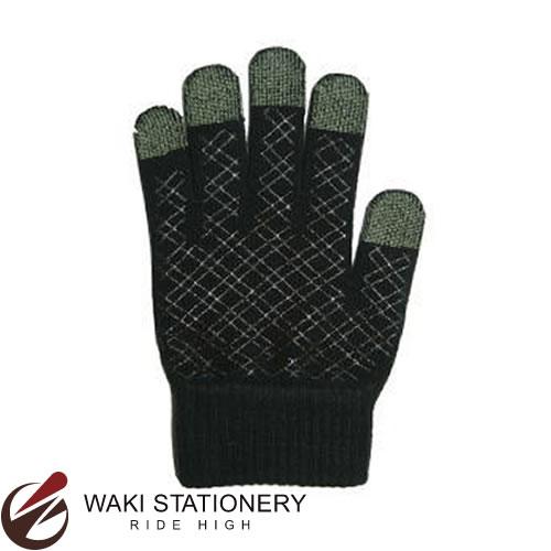 プラチナ萬年筆 スマホ対応手袋 男女兼用 ブラック YT-1300#1 [YT-1300]