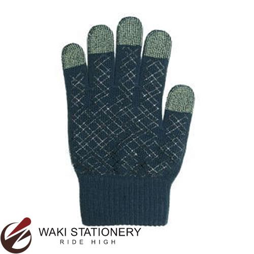 プラチナ萬年筆 スマホ対応手袋 男女兼用 ダークブルー YT-1300#3 [YT-1300]
