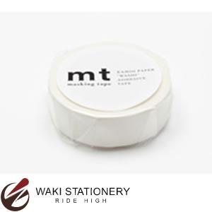 カモ井加工紙 mt マスキングテープ 無地 1P マットホワイト MT01P208