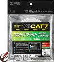 サンワサプライ CAT7ウルトラフラットLANケーブル(2m) KB-FLU7-02W ホワイト KB-FLU7-02W