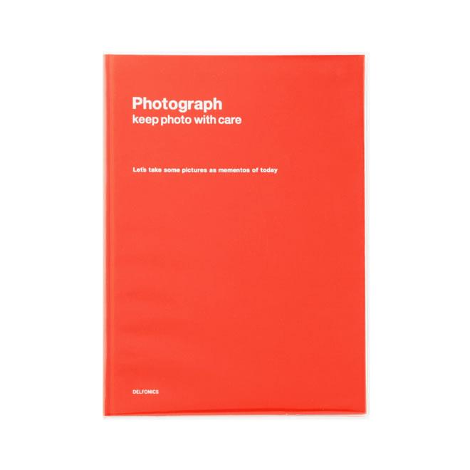 デルフォニックス PD フォトアルバム ベーシック A4 オレンジ 500190-123
