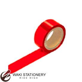 ササガワ [タカ印] メッキテープ 幅25mm×長さ20m 赤 40-4456