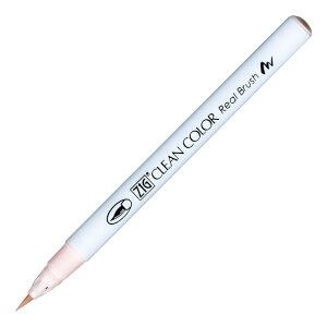 呉竹 ZIG クリーンカラーリアルブラッシュ カラーペン 毛筆タイプ 水性染料インキ ペールピンク RB-6000AT-028 / 3セット