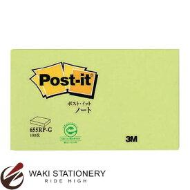 スリーエム [ポスト・イット / Post it] 再生紙 スタンダードカラー ノート 75mm×127mm 100枚 グリーン 655RP-G