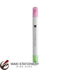 コクヨ 蛍光マーカー [WiLL STATIONERY ACTIC] 2色ツイン ピンク/ライトグリーン F-WPM104-1