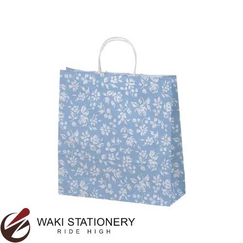 ササガワ [タカ印] 手提げバッグ パーソナル用 中 カレン 10枚入 ブルー 50-6212