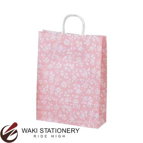 ササガワ [タカ印] 手提げバッグ パーソナル用 大 カレン 10枚入 ピンク 50-6311