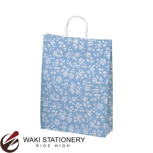 ササガワ [タカ印] 手提げバッグ パーソナル用 大 カレン 10枚入 ブルー 50-6312