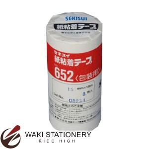 清水化学 紙粘着テープ 8巻 NO.652 15×18-8P
