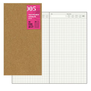 トラベラーズノート TRAVELER'S Notebook リフィル 日記【デザイン文具】 【トラベラーズ レギュラー】