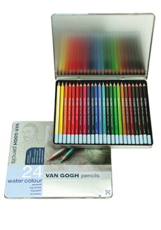 Van Gogh watercolor pencils set 24 color