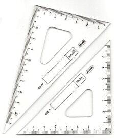 【メール便対応】ORIONS三角定規V-42012cm