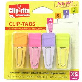 【メ可】Clip-rite クリップタブ XSサイズ オレンジ・ピンク・パープル・ライム CRT-128