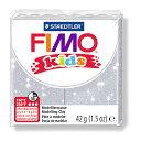 【メ可】ステッドラー CLAY FIMO オーブンクレイ フィモ キッズ <グリッターシルバー> 8030-812