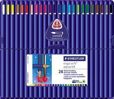 ステッドラー エルゴソフト アクェレル水彩色鉛筆 24色セット 156 SB24