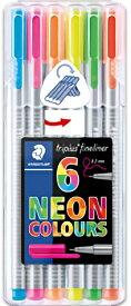 【メ可】ステッドラー トリプラス ファインライナー 細書きペン ネオンカラー 6色セット 334-SB6CS3