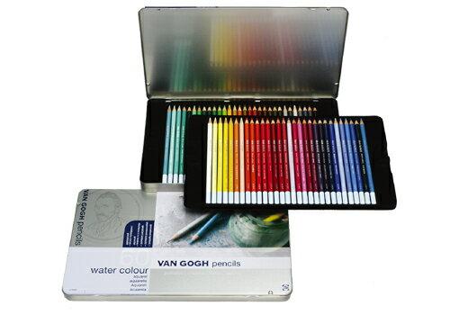 サクラクレパス ヴァンゴッホ 水彩色鉛筆 60色セット(メタルケース入り) 157401