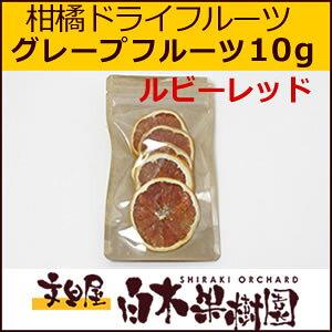 白木果樹園柑橘ドライグレープフルーツ・スタールビー 10g【国産柑橘】【数量限定】