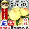 あら川の桃【白桃種】手選り【秀選】2kg強/6玉入生産者からの直送となります。